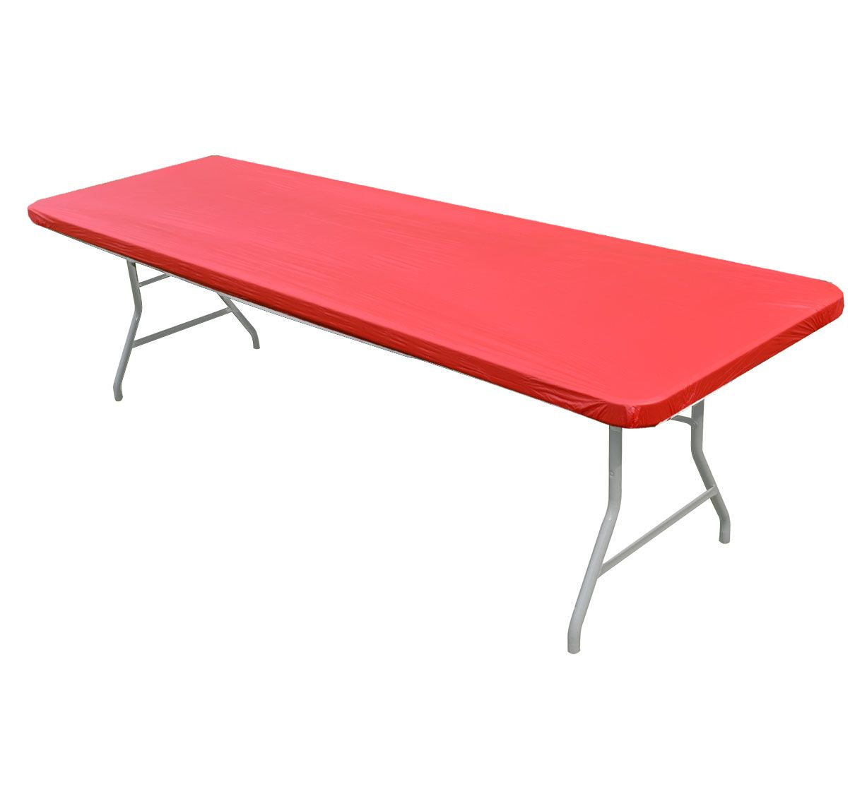 216 & Kwik Covers 8\u0027 Rectangle Red Table Cover by Kwik Cover