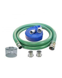 """PVC 1-1/2"""" Suction & Discharge Pump Kit Quick Coupling Ends"""