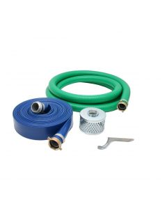 "PVC 2"" Suction & Discharge Hose Pump Kit Threaded Ends"