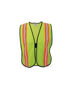 "Ironwear Safety Vest Lime, 2"" Orange Tape, 1/2"""