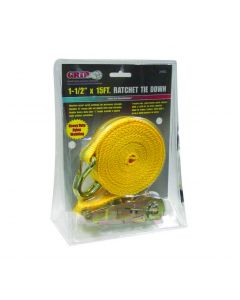 "1-1/2"" x 15 Ft Yellow Tie Down"