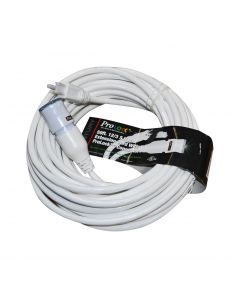 ProLock 12/3 50' White Extension Cord