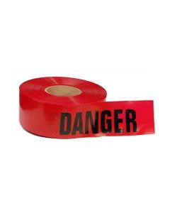 Red Danger Tape, 2 Mil