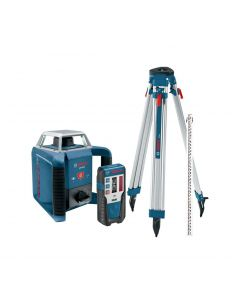 Bosch Self-Leveling Horizontal Slope Rotary Laser w/Receiver, Tripod & Rod