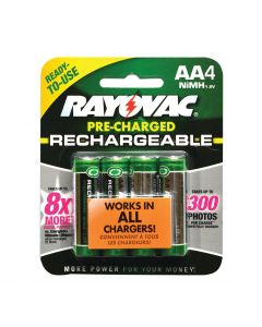 Rayovac AA NiMH Rechargeable Batteries