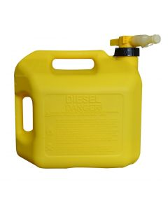 5 Gallon Yellow No-Spill Diesel Container