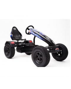 XL-4 Pedal Kart w/ Charger Blue Graphics & Black Frame