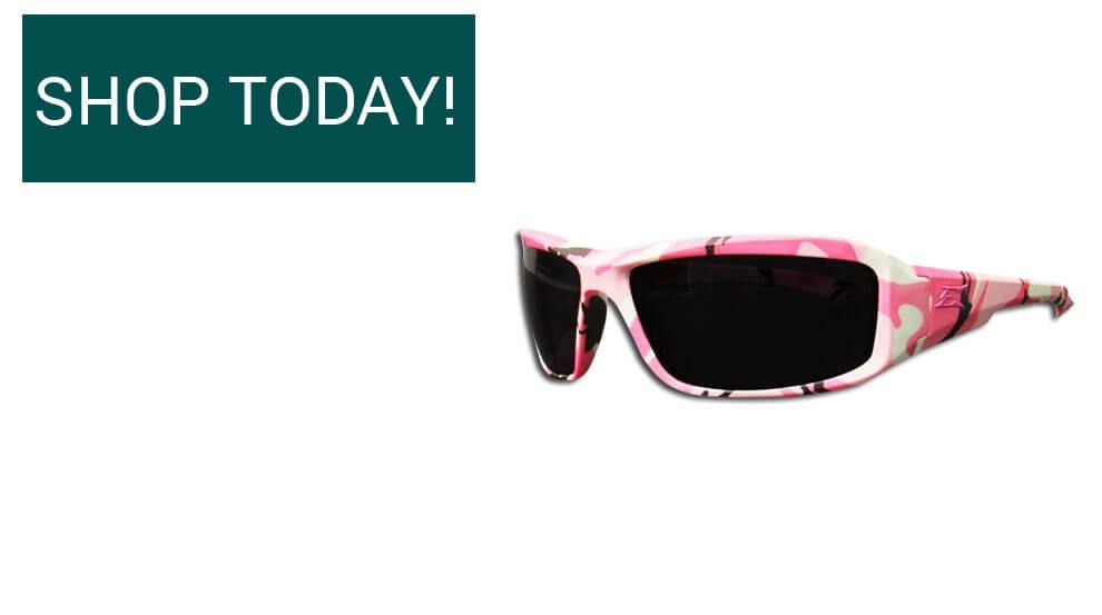 Brazeau Huntress Safety Glasses - Pink Camo & Smoke